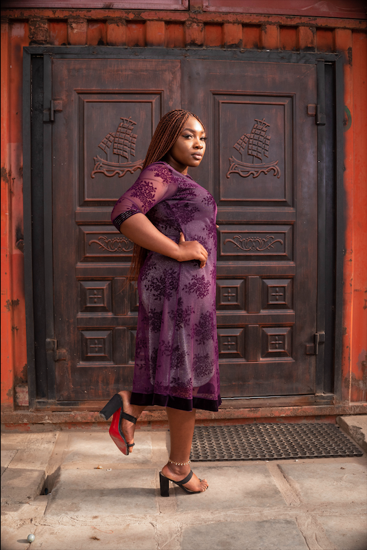 Dara Purple Dress