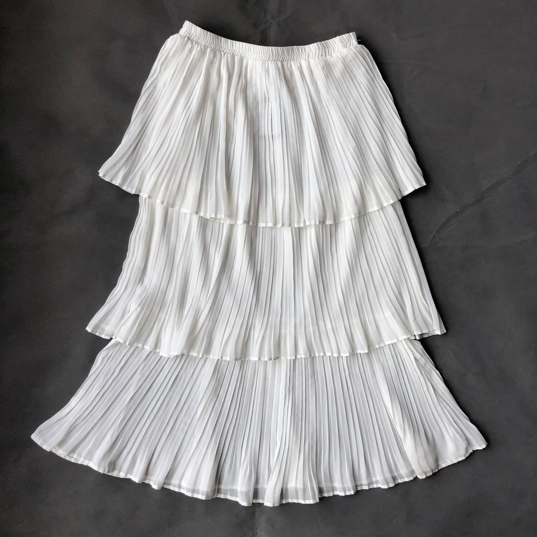 Angie White 3 layer Skirt