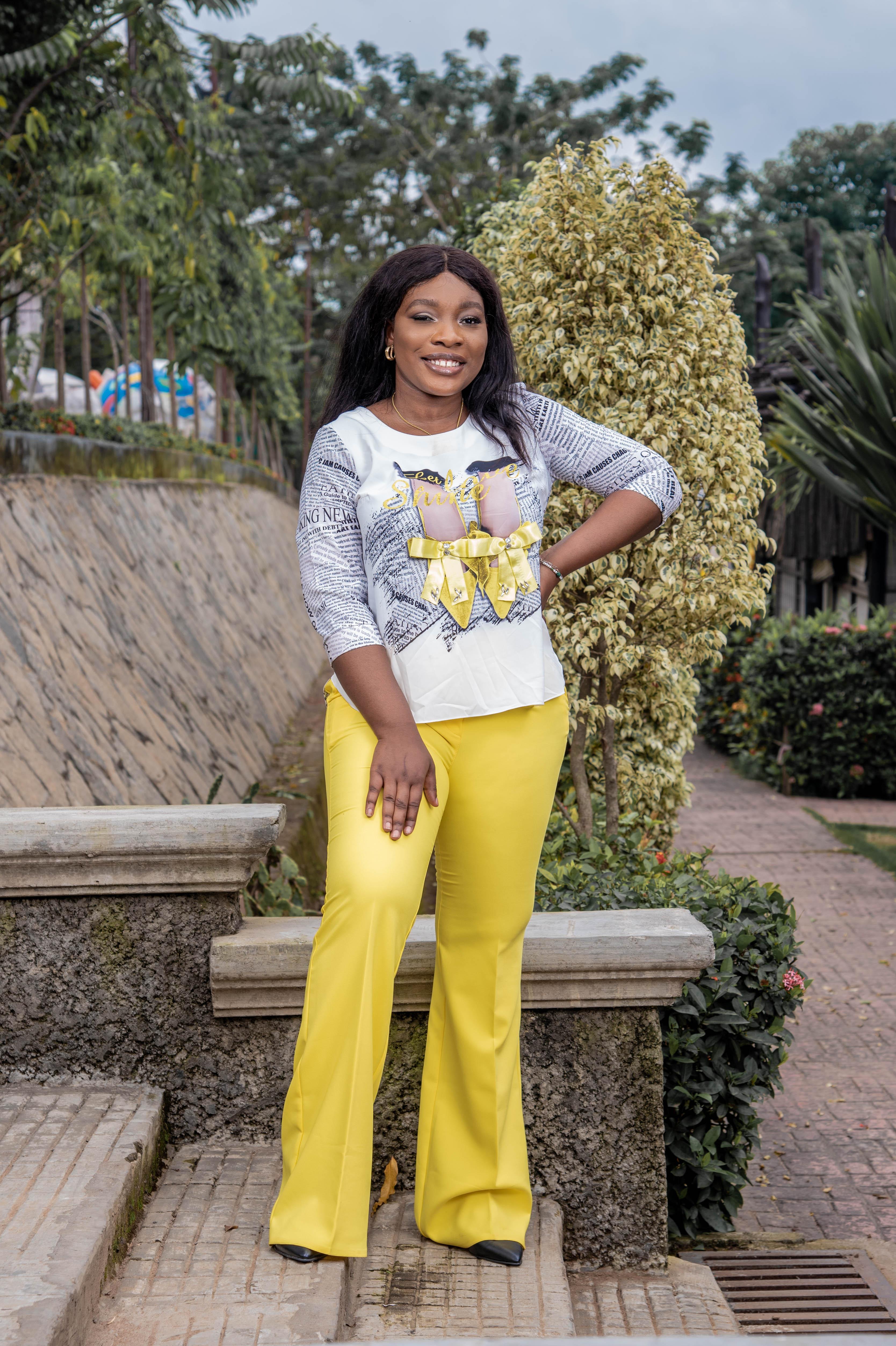 Nekky Yellow Trouser Set