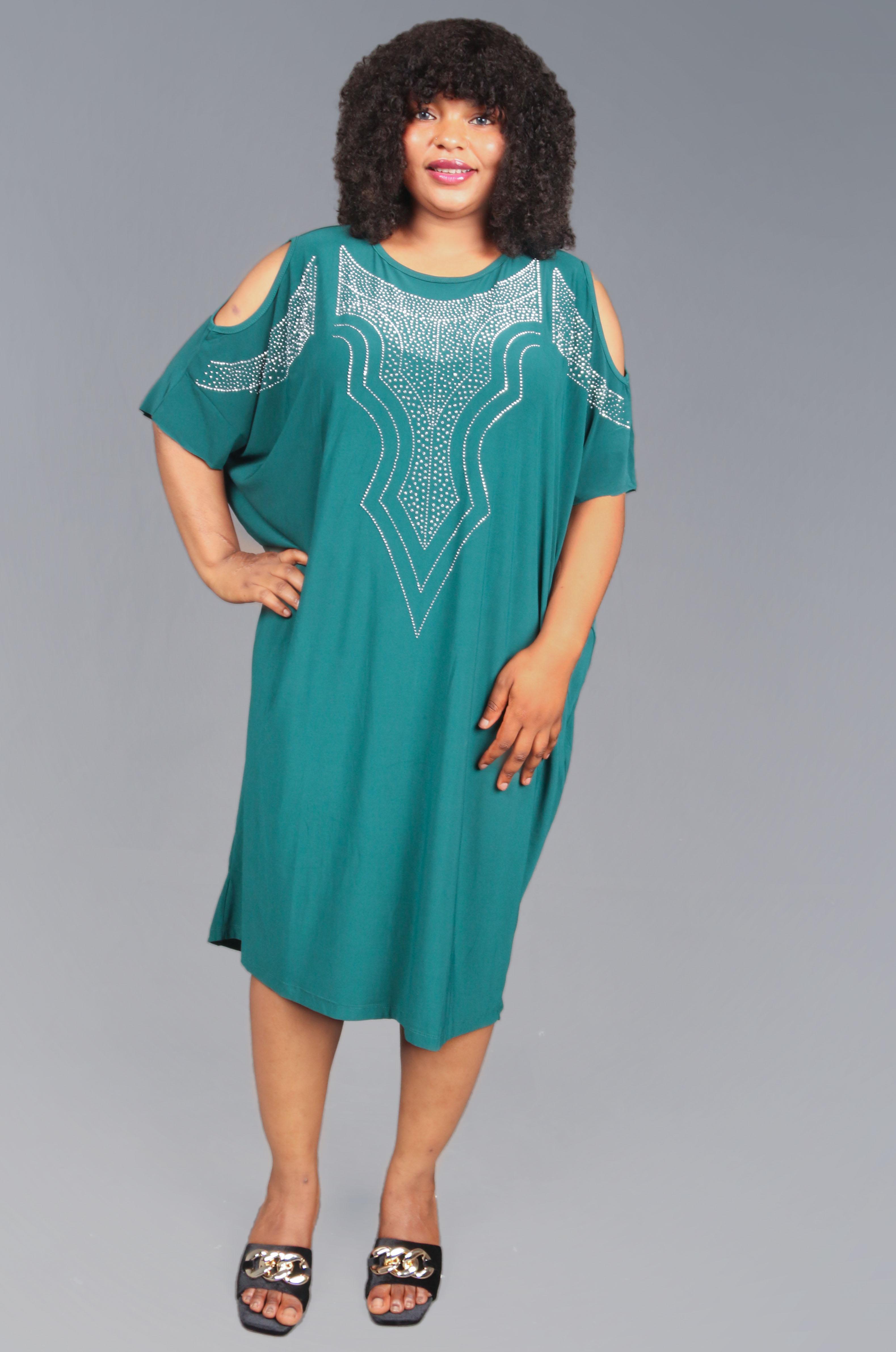 Calista Green Embellished Dress