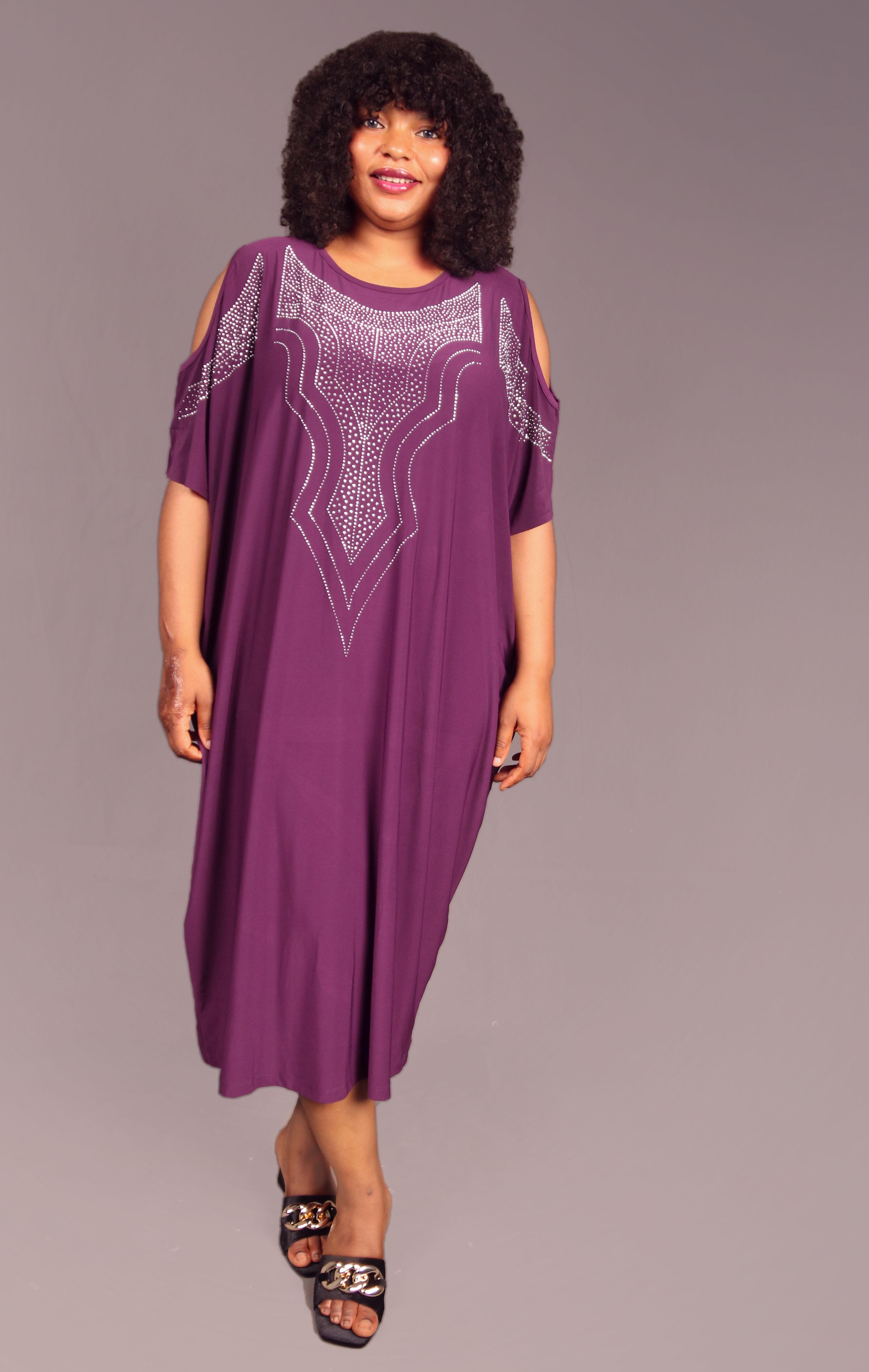 Calista Purple Embellished Dress